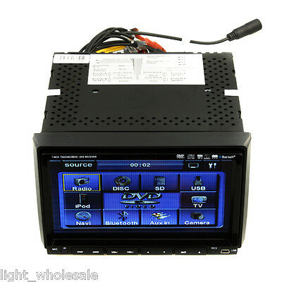 "7"" HD 2Din LCD Touch Screen Car Radio CD DVD Player Bluetooth iPod Stereo TV RDS"