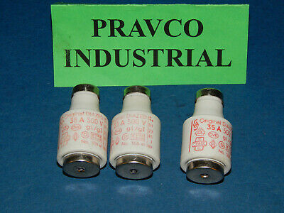 Lot of 3 Kema Keur 5SB-41 Original Diazed Fuse 35Amp 500Volt 5SB41