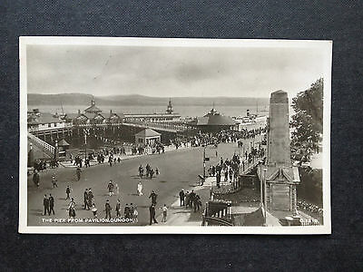 The Pier From The Pavilion - Dunoon , Argyllshire - Vintage Postcard   1944