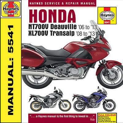 Honda NT700 Deauville & XL700 Transalp 2006-2013 Haynes Manual 5541 NEW