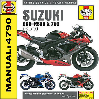 Suzuki GSXR600 & GSXR750 2006-2009 Haynes Manual 4790 NEW