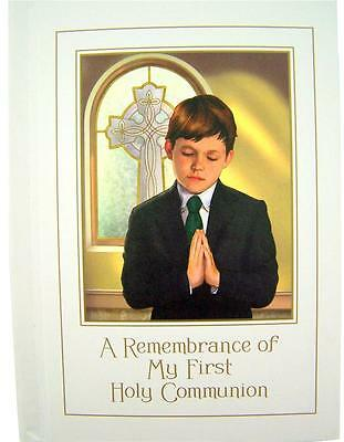 My Holy First Communion Mass Book with Prayers Catholic Keepsake Gift for Boy