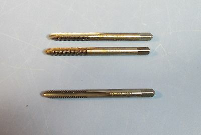 Lot of 3 Regal Taps Two 10-32 NF 2 Flute & One 10-24 NC 3 Flute Lightly Used