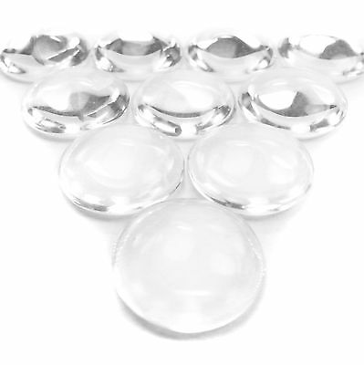 25 Pack Flat Bottom Clear Glass Dome Beads