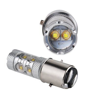 BA20D(395) H6M 50W HIGH POWER CREE LED LAMPADINA XENON BIANCO -MOTO ATV Quad