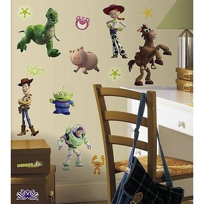 New TOY STORY WALL DECALS Buzz Lightyear Woody Kids Bedroom Stickers Room Decor