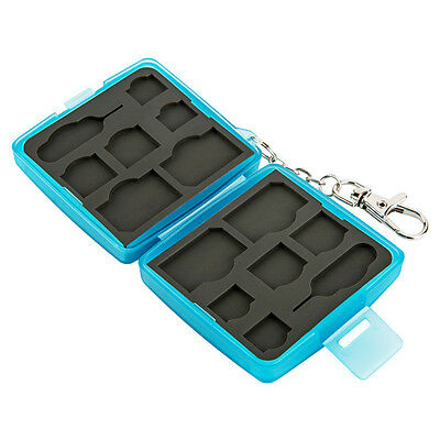 JJC Anti-dust Memory Card Case w/ Lock&Ring For 4SIM+4Micro SIM+4Nano SIM Cards