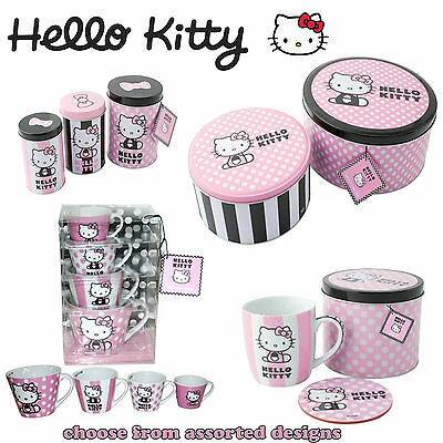 Assorted HELLO KITTY Items - Mugs, Cake Tins & Stands, Lap Trays