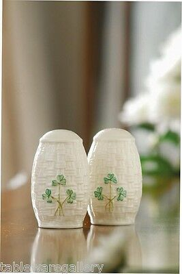 Belleek Tableware Shamrock Salt & Pepper Set