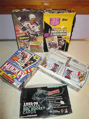 HUGE LOT OF OVER 1,000 1990'S HOCKEY COLLECTOR CARDS BOWMAN TOPPS UPPER DECK