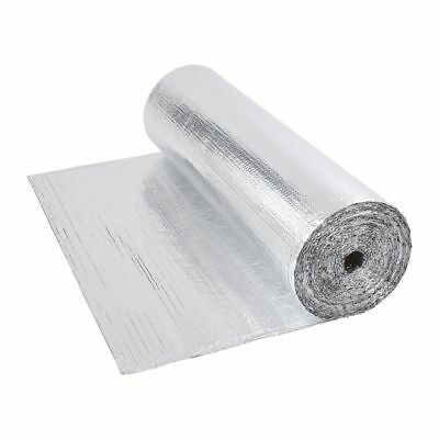 Double Aluminium Single Layer Bubble Wrap Foil Insulation 1.2m x 40m Loft Floor