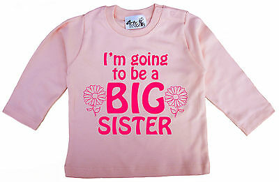 "New Sister Top ""I'm Going to be a Big Sister"" Long Sleeve Top Tee Clothes"