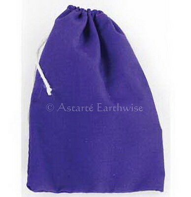1 x PURPLE COTTON BAG -  MOJO BAG  - SPELL BAG Wicca Pagan Witch Goth Spell