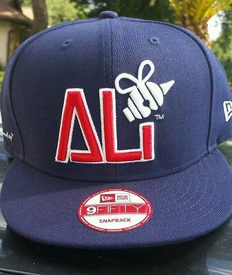 New Era Muhammad Ali Snapback Hat Hologram Bee Snap Cap Blue Mens Size OSFA
