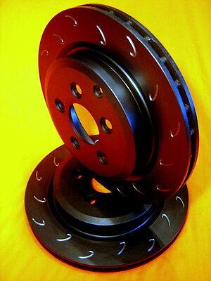 SLOTTED VMAX J HOOK Ford TERRITORY 2WD 4WD REAR Disc Brake Rotors PAIR