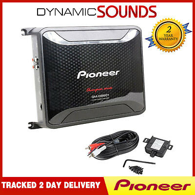 Pioneer GM-D8601 Mono 1600W Class-D AMP with Bass Boost Remote