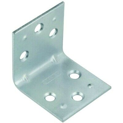 Double Wide Corner Brace 1-1/2 By 1-1/2 Inch Zinc Finish Pack Of 2