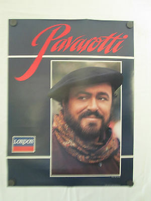 Luciano Pavarotti Poster 1985 Photo By Peter Warrack