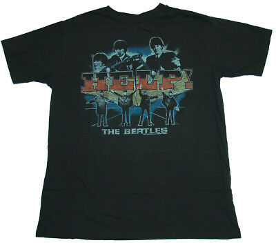 The Beatles Band Help Vintage Style Junk Food T-Shirt Tee