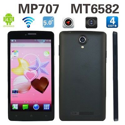 """5""""Android 4.3.0 4Core 4GB Unlocked Quad Band AT&T 3G/2G Smartphone Straight Talk"""