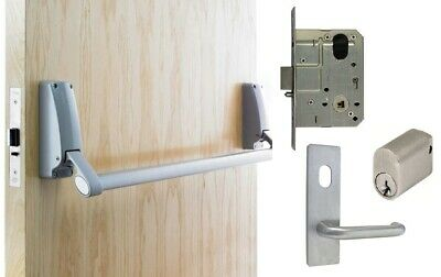 Briton Exit Door Pack B379 Panic Bar MS2 Mortice Lock Key Lever Entry Access