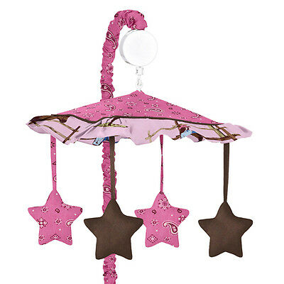 MUSICAL MOBILE FOR COWGIRL WESTERN HORSE BABY CRIB BEDDING BY SWEET JOJO DESIGNS