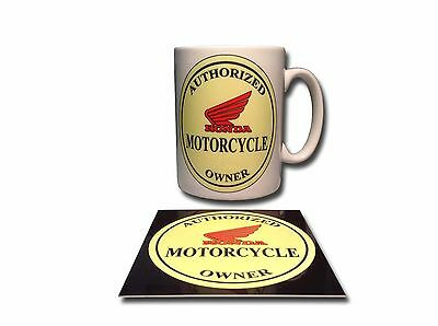 Honda Owner Ceramic Mug Plus **free** Enamelled Finish Coaster,retro.