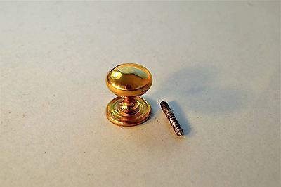 Good Quality Brass Classic Antique Style Screw In Furniture Knob Cupboard K4