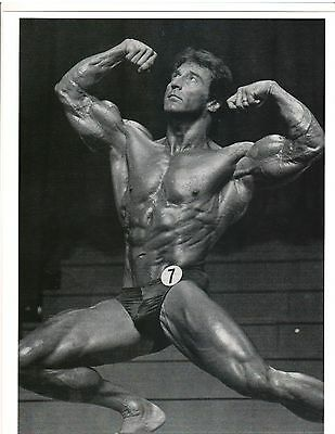 FRANK ZANE Pro NABBA Mr Universe/Mr World Muscle Bodybuilding Photo B+W
