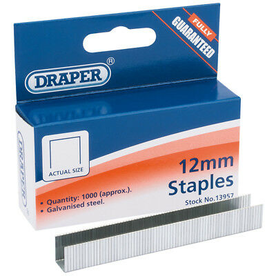 Draper 13957 1012HD Box 1000 12mm Staples For to Fits Arrow T50 Draper 13951