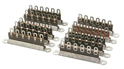 6-Position Phenolic Terminal Strip, Solderable, 10pc, Unbranded/Generic