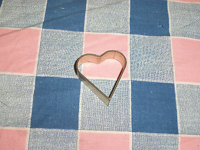 Vintage  Heart Shaped Cookie Cutter Metal  1 1/2 Inch Length