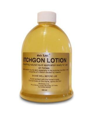 GOLD LABEL ITCHGON LOTION (500ml - 2 Litres) horse pony natural soothes irritant