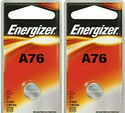 2 Pack Energizer LR44 AG13 357 Button Cell Batteries
