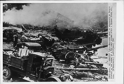 German Stuka Attack against Russian Red Army Column 1941 Press Wire Photo
