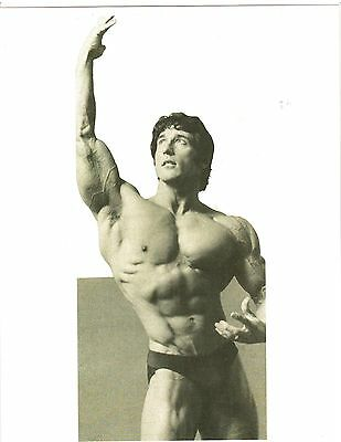 Bodybuilder FRANK ZANE  3x Mr Olympia /Mr World /Mr Universe Muscle Photo B+W