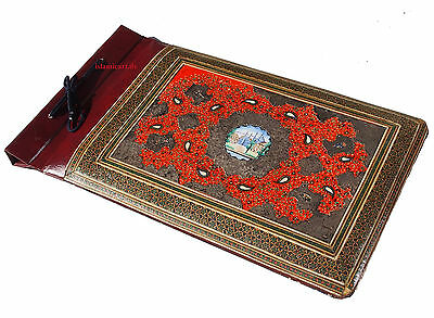 19th/20th CENTURY ANTIQUE QAJAR PERSIAN LACQUER PAPIER MACHE PHOTO ALBUM no-4