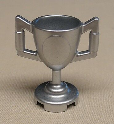 NEW Lego Minifig Utensil Trophy Cup METALLIC SILVER