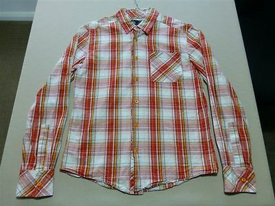 034 Mens Paul Frank Red Check L/s Shirt Sze Sml Ex-Cond, $170 Rrp.
