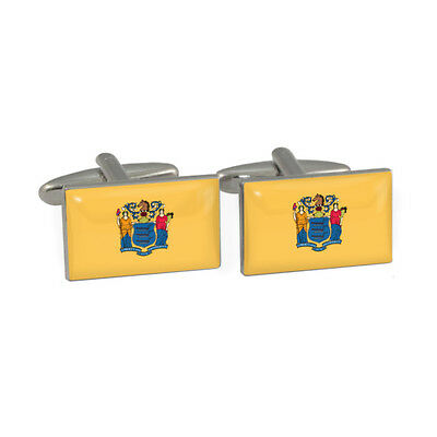 New Jersey State Flag Cufflinks garden state NYC new york newark NJ New & Boxed
