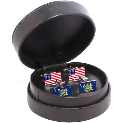 New York State/USA Flag Cufflink Set NYC empire state NY new yorker big apple