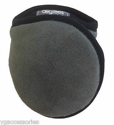 Degrees By 180s Suburban Grey Faux Suede Adjustable Ear Warmers / Muffs Adult