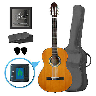 Artist CL44SPKAM Full Size Classical Guitar Pack, Nylon, Slim Neck - New