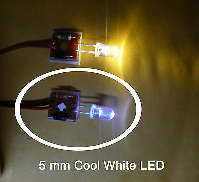 5mm COOL White LED Headlight - Lionel  O Scale & LGB Aristo Craft G Locomotives