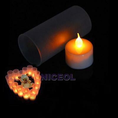 LED Electronic Flameless Switch Candle Yellow Color Night Light With Cup NI5L