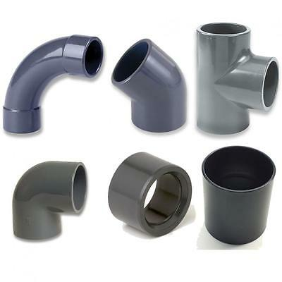 PVC Solvent Weld Pipe Pipework Connectors Fittings Koi Fish Pond Construction