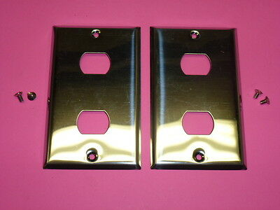 Nos! (2) Bell Interchange Single Gang Chrome Finish Wall Plate, Horizontal
