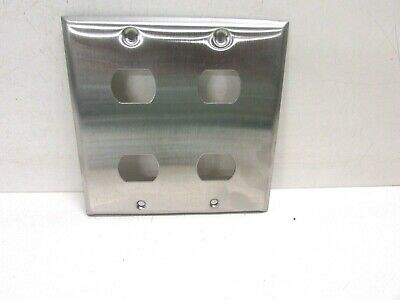 Nos! Bell Interchange 2-Gang Stainless Steel Wall Plate, Horizontal, 18-2-Ss