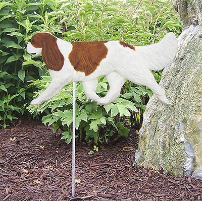 Cavalier King Charles Outdoor Garden Dog Sign Hand Painted Figure Blenheim