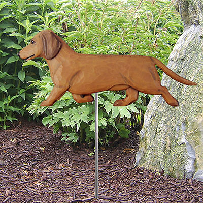 long haired red laying D079 Hand-made Christmas Ornament dog Dachshund